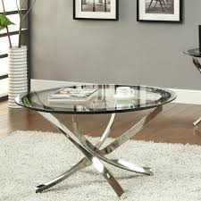 ... Coffee Table, Stylish Clear Modern Glass Round Coffee Table Design  Ideas To Fill Living Room ...