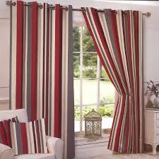 arizona stripe red ready made eyelet curtains expand