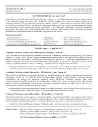 cv examples our 1 top pick for orthopedic physician assistant resume development examples of medical resumes