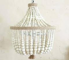 wood bead chandelier dahlia chandelier get your beads at we offer elena wood bead chandelier pottery
