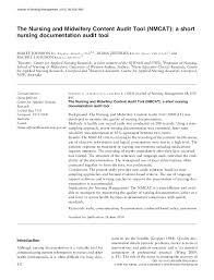 Fluid Balance Chart Audit Tool Pdf The Nursing And Midwifery Content Audit Tool Diana