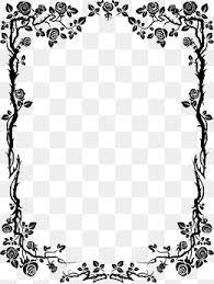 black frame png. Simple Png Black Borders Black Flowers Frame PNG Image And Clipart For Black Png