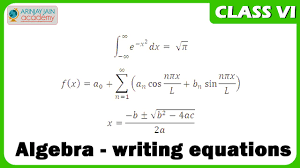 algebra writing equations maths class vi cbse isce ncert you