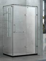 bi fold tempered and easy clean clear galss reversiable shower enclosure