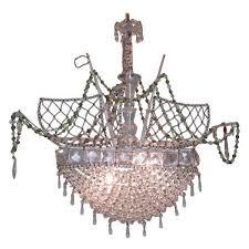 20th century italian venetian crystal ship chandelier