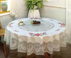 round table 60 inches tablecloth fl vinyl printed import linen size white sofa wide round table 60 inches