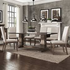 zinc dining room table. Janelle Extended Rustic Zinc Dining Set - Parson Chairs By INSPIRE Q Artisan Room Table