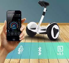 Xe điện cân bằng Mini Robot - BẢN MỚI Có, đèn led, tay xách thuận tiện