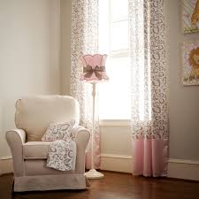 baby nursery lighting ideas. Pink Nursery Lamp With Wooden Pattern Floor And White Chair Ideas Baby Lighting A