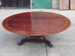 huge round georgian table 7ft diameter round regency revival mahogany antique dining table to seat