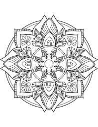 Disegno Di Mandala Con Fiore Da Colorare Disegni Da Colorare E