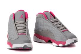 air jordan shoes for girls grey. girls air jordan 13 retro gray pink white for sale-1 shoes grey o