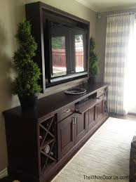 Mirrored Tv Cabinet Living Room Furniture I Like The Painted Mirror Above The Tv One On Each Side Of The