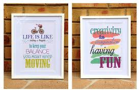 quote signs created with pazzles invue software on craft room wall decorations with life is like a bicycle framed d cor pazzles craft room