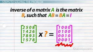 how to find the inverse of a 4x4 matrix lesson transcript study com