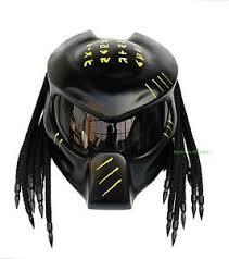 black custom predator motorcycle helmet ebay