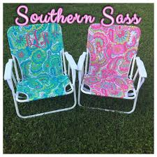 personalized beach chairs. Monogrammed Beach Chair Www.etsy.come/shop/southernsassbybrit Personalized Chairs Pinterest