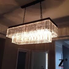 elegant rectangular chandelier intended for replica item industrial length 85cm 1920s odeon clear glass fringe decorations 10