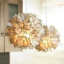 capiz lotus flower chandelier lotus chandelier capiz shell lotus flower ball chandelier