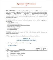 Obtain our contractor agreement templates without spending a dime of price from our web site which gives an in depth model of all authorized legislation. Free 13 Sample Contract Agreement Templates In Pdf Ms Word Google Docs Pages Excel