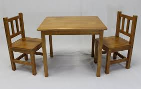 best kids table and chairs 3 pc set solid hard wood honey oak play art