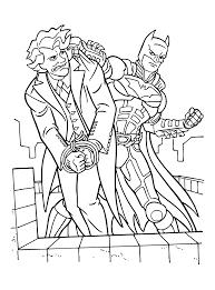 Kleurplaten Paradijs Kleurplaat Batman En The Joker