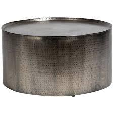 hammered metal side table handmade porter hammered metal industrial round coffee table hammered metal side table