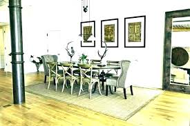 area rug under dining table carpet under dining room table rug under round dining table area