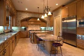 Stone Kitchen Floors Kitchen Awesome Brick Stone Kitchen Island Black Glass Top Black