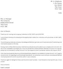 Group Interview Thank You Letter Example Icover Org Uk