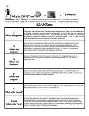 Soapstone Assignment Day 1 Docx Pdf Soapstone Chart