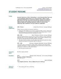 Graduate Student Resume Graduate Student Resumes