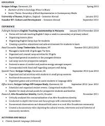 Camp Counselor Resume Sample Head Counselor Resume
