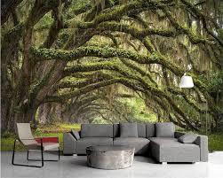 Beibehang 3d Behang Natuur Dream Forest Bos In De Kleine Road 3d