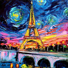 vincent van gogh and the eiffel tower were only on this earth together for one year 1889 it s inaugural year yet artist aja ck thought it would be