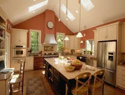 kitchen lighting vaulted ceiling luxury track lighting for vaulted kitchen ceiling concept