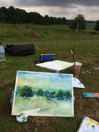 landscape painting class at london sunny art centre 2