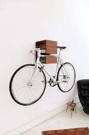 ... MIKILI Wall Bike Rack Outside Bike Storage Ideas: Fascinating Wall Bike  Rack Ideas