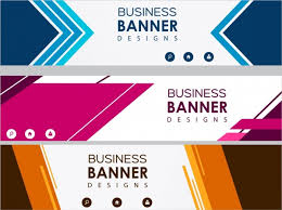 Business Banner Design Business Banner Sets Colored Modern Design Free Vector In Adobe