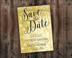 Amazon Com Save The Date Postcards Gold Black Save The