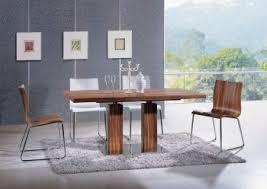 extendable rectangular wooden italian 5 piece kitchen set with chairs