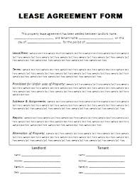 Simple Rental Agreement Template Generic Lease Agreement Template Printable Sample Free Lease