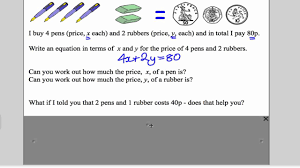 simultaneous equations 1 gcse higher maths tutorial 11