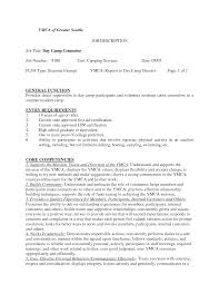 Day Camp Counselor Resume Examples Cover Letters For Software