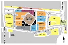 Miami Dolphins Hard Rock Stadium Seating Chart Hard Rock Stadium Parking Lots Tickets And Hard Rock Stadium