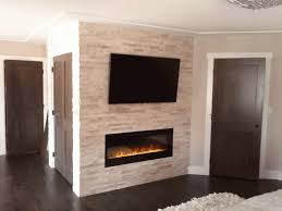 stone wall with fireplace and tv ideas