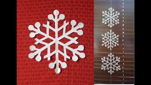 How To Make Snowflake String Decoration Using An Easy Snowflake