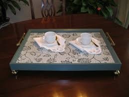 make a serving tray from a picture frame