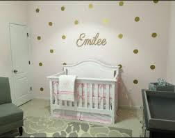 Baby Girl Nursery-Gold Nursery - gold polka dots decals-wall polka dots-