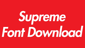 Supreme Logo Font Download Youtube